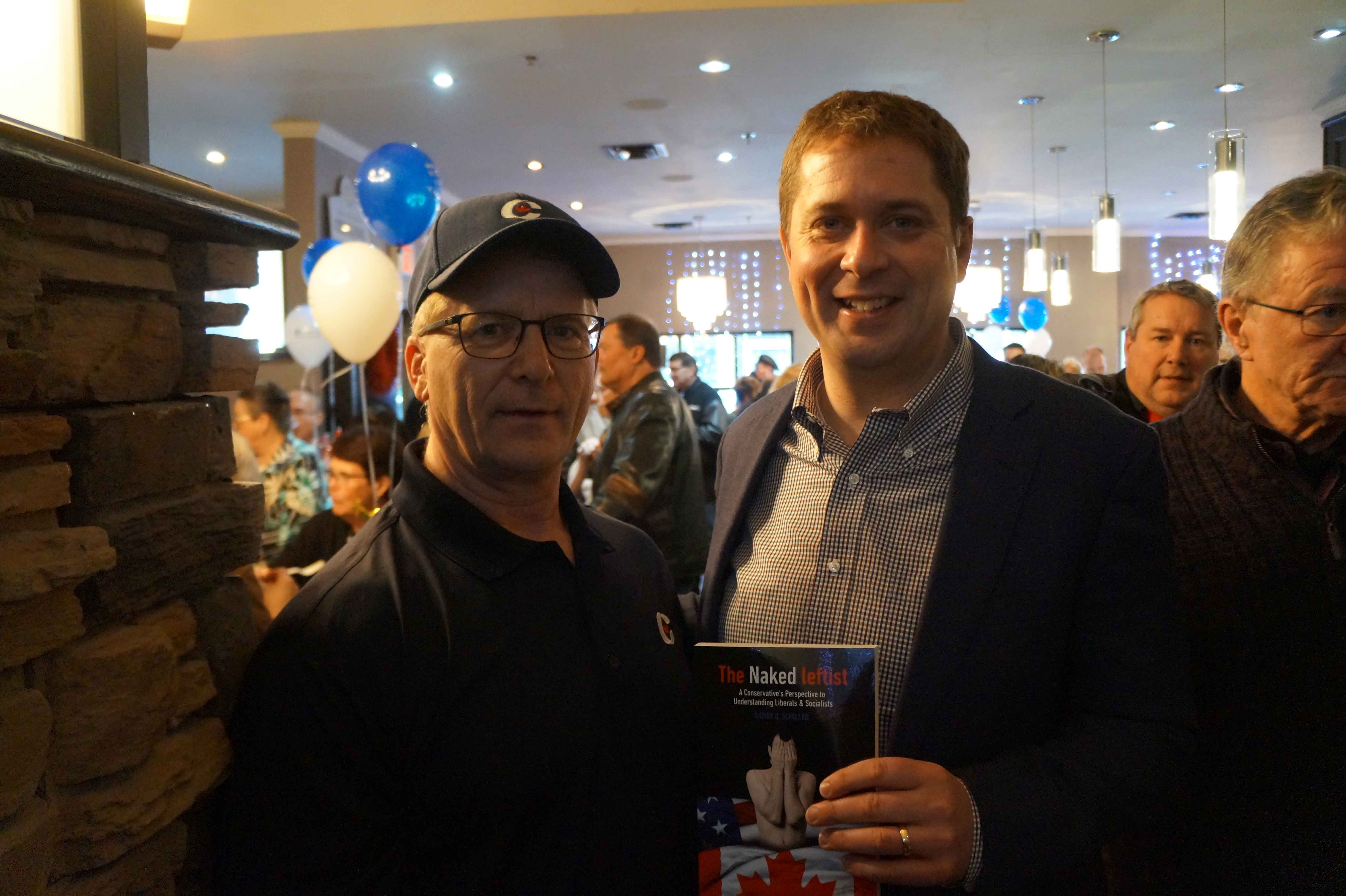 Randy with the next Prime Minister, Honourable Andrew Scheer, Regina, May 2018
